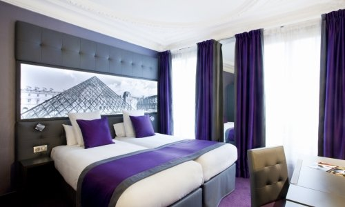 The  Twin Rooms of the Hotel Bestwestern Nouvel Orleans